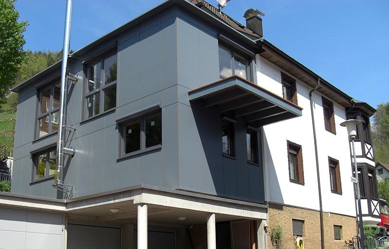 Treppenhaus nach außen verlegen  Haus D