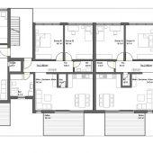 Mehrfamilienhaus Grundriss Obergeschoss