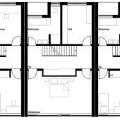 Grundriss Reihenhaus Obergeschoss